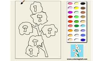 Цветок: Раскраски для малышей