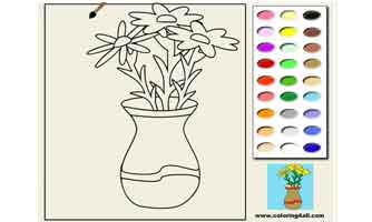 Цветы: Раскраски для малышей