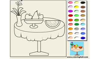 Фрукты: Раскраски для малышей