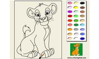 Симба, Король Лев: Раскраски для малышей