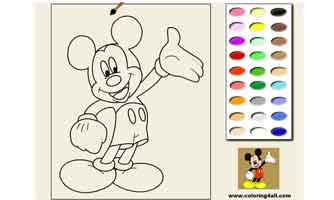 Микки Маус: Раскраски для малышей
