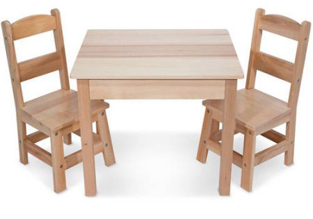 Melissa & Doug Solid Wood Table and Chair Set