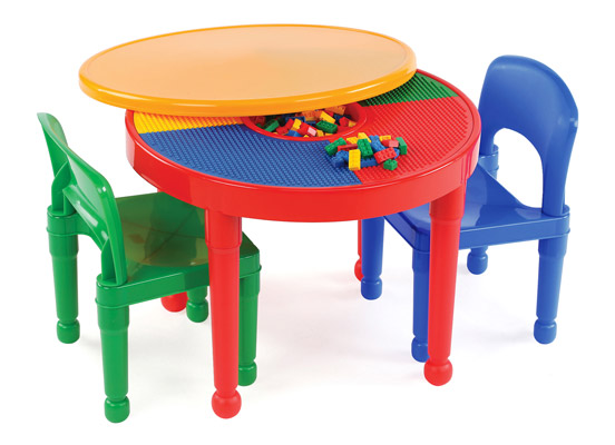 Tot Tutors Kids 2-in-1 Plastic Activity Table