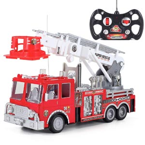 """13"""" R/C Rescue Fire Engine Truck Remote Control Review"""