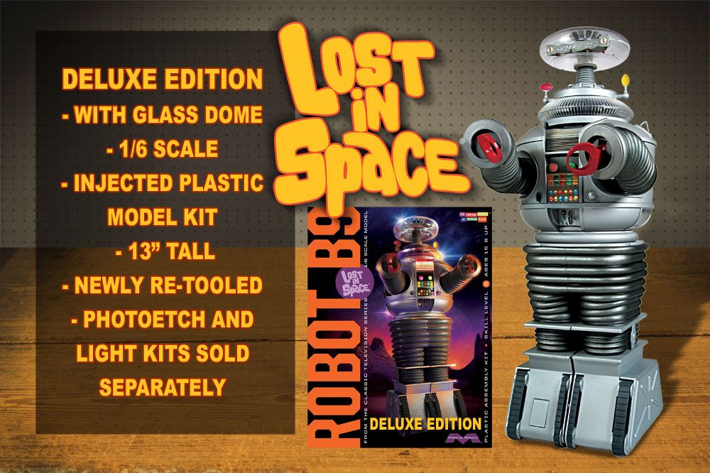 Lost In Space Deluxe Robot 1 6 Scale Model Kit Moebius Models