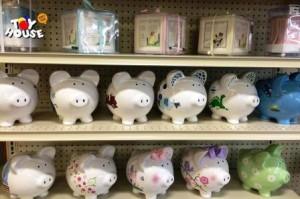 Toy House and Baby Too, Piggy Banks, baby store, toy store, juvenile products