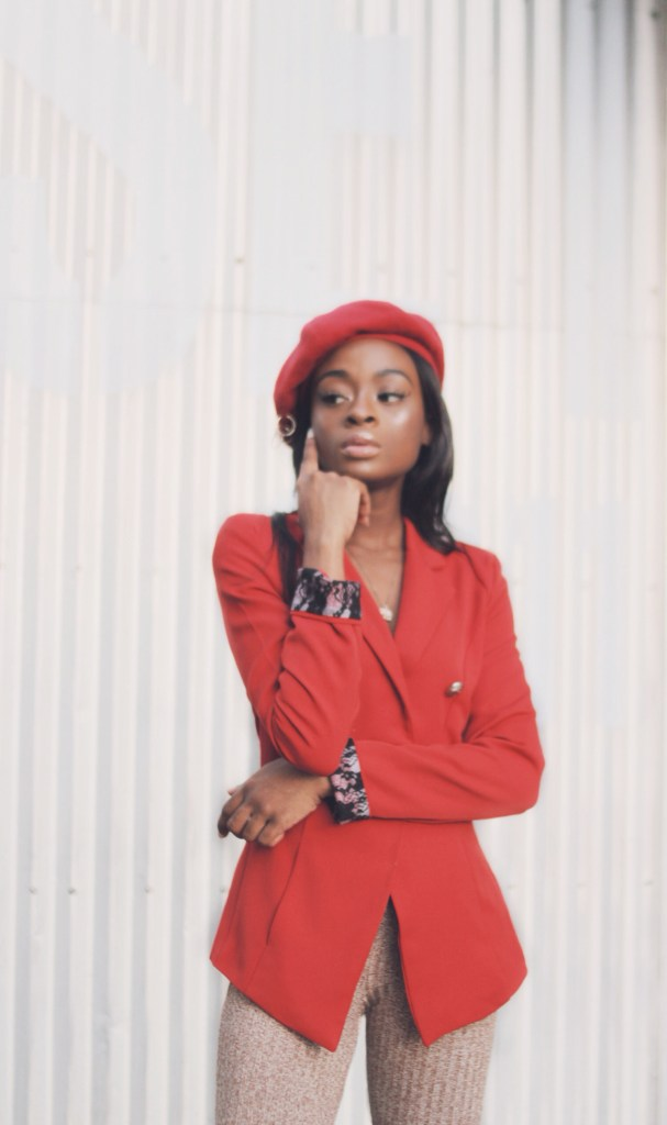 beret nigerian fashion blogger