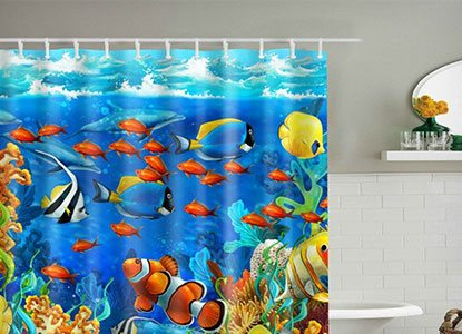 33 mega colorful kids shower curtains
