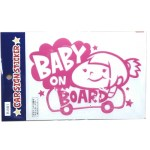 BABY ON BOARDピンク(女の子)