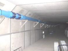 富山市流杉浄水場/共同溝内配管 200A×50m
