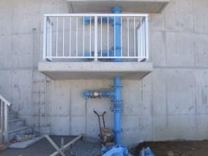富山市流杉浄水場(露出配管)