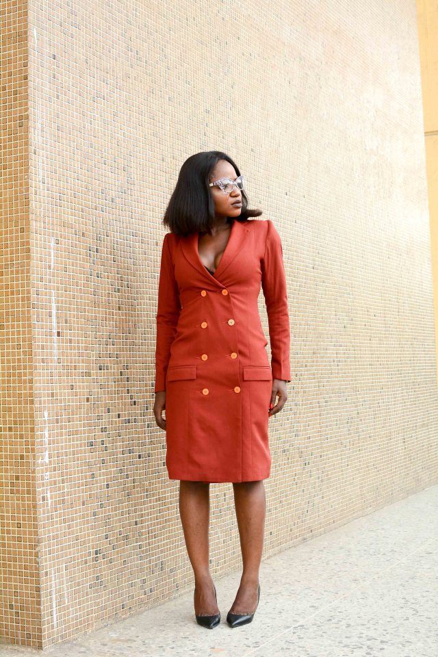 Styling Tuxedo blazer dress