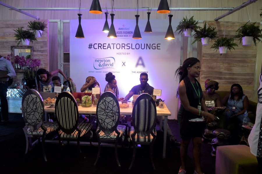 creators lounge at the lagos fashion and design week 2017 ,cross section of bloggers ,nigerian bloggers and creatives