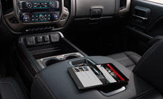 Image showing available 4G Wi-Fi Hotspot inside the 2017 GMC Sierra 1500 pickup truck.