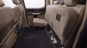 Ford F-150 rear cargo space flip up rear seats