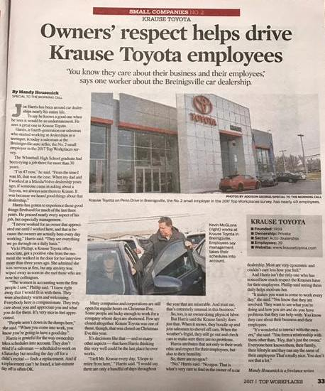 Krause Toyota Found in The Morning Call