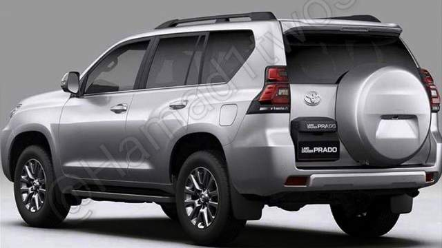 2018 Toyota Land Cruiser Prado spy photo rear view