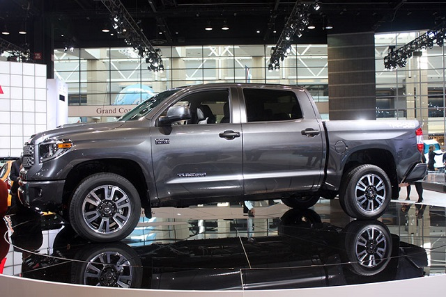 2018 Toyota Tundra with Cummins Diesel V8 Engine side view