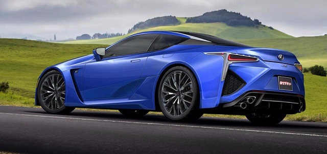 2019 Lexus LC rear view