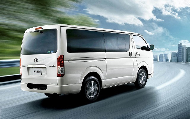 2019 Toyota HiAce rear view