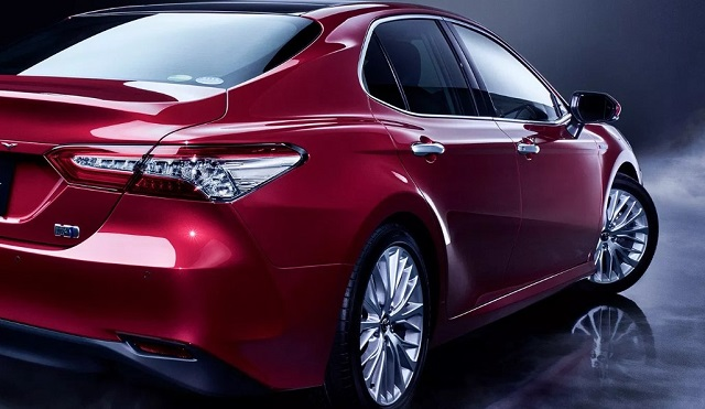 2021 toyota camry rear view