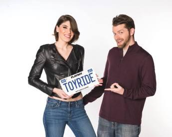 Nikki & Daniel with Toyride license plate