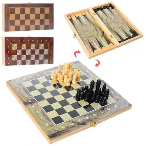 Шахматы 3 в 1 28ACD