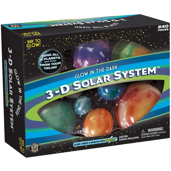 Great Explorations Glowing 3D Solar System Glow in the ...