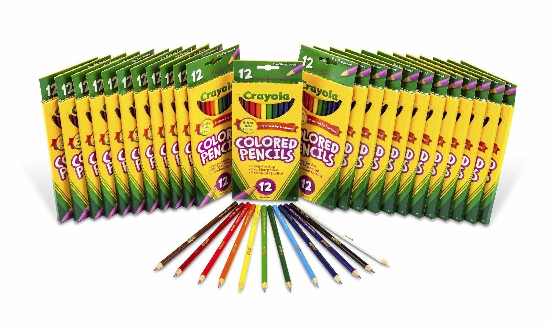 81azT ZT50L. SL1500  - Crayola Colored Pencils 12 Ct (Set of 24 Each)