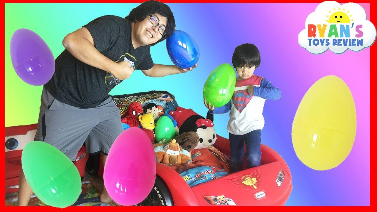maxresdefault 1 - EASTER EGGS Surprise Toys Challenge Disney Cars Toys Paw Patrol Batman Superman Thomas and Friends