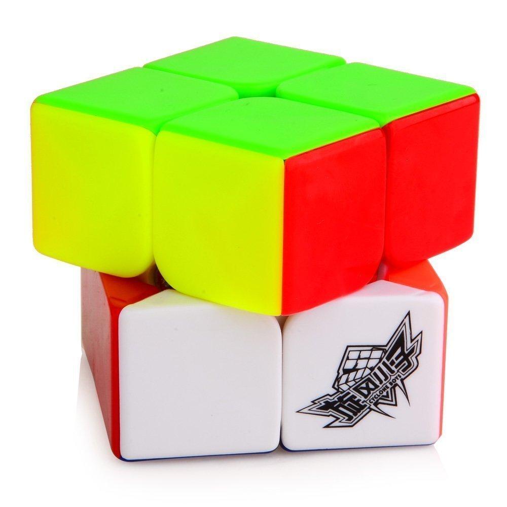61aLpicgikL. SL1000  - D-FantiX 50mm Cyclone Boys 2x2 Speed Cube Stickerless Magic Cube Puzzles Toys Colorful
