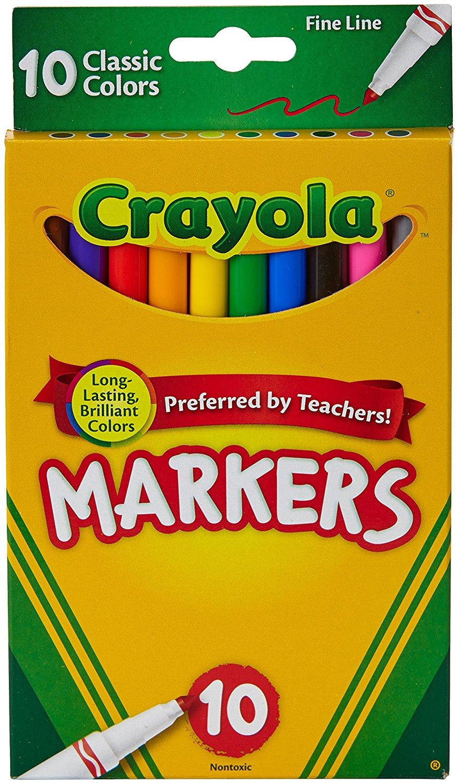 9188BCTI 0L. SL1500  - Crayola 10 Ct Fine Line Markers