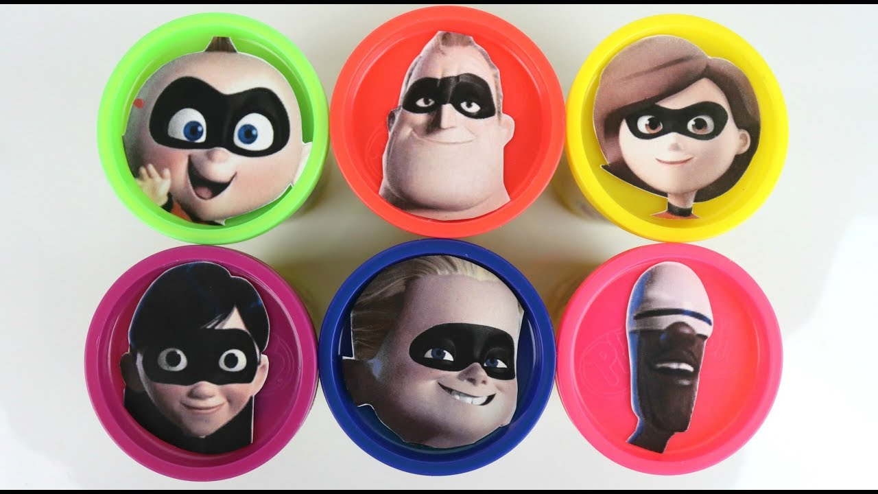 Learn Colors with Incredibles 2 Baby Jack Jack Play doh Toy Surprises - Learn Colors with Incredibles 2 Baby Jack Jack & Play-doh Toy Surprises