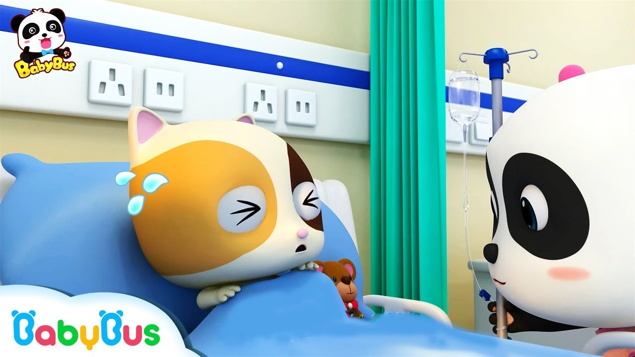 Baby Kitten Has a Fever Baby Panda Nurse Pretend Play with Doctor Toys Kids Song BabyBus - Baby Kitten Has a Fever | Baby Panda Nurse | Pretend Play with Doctor Toys | Kids Song | BabyBus