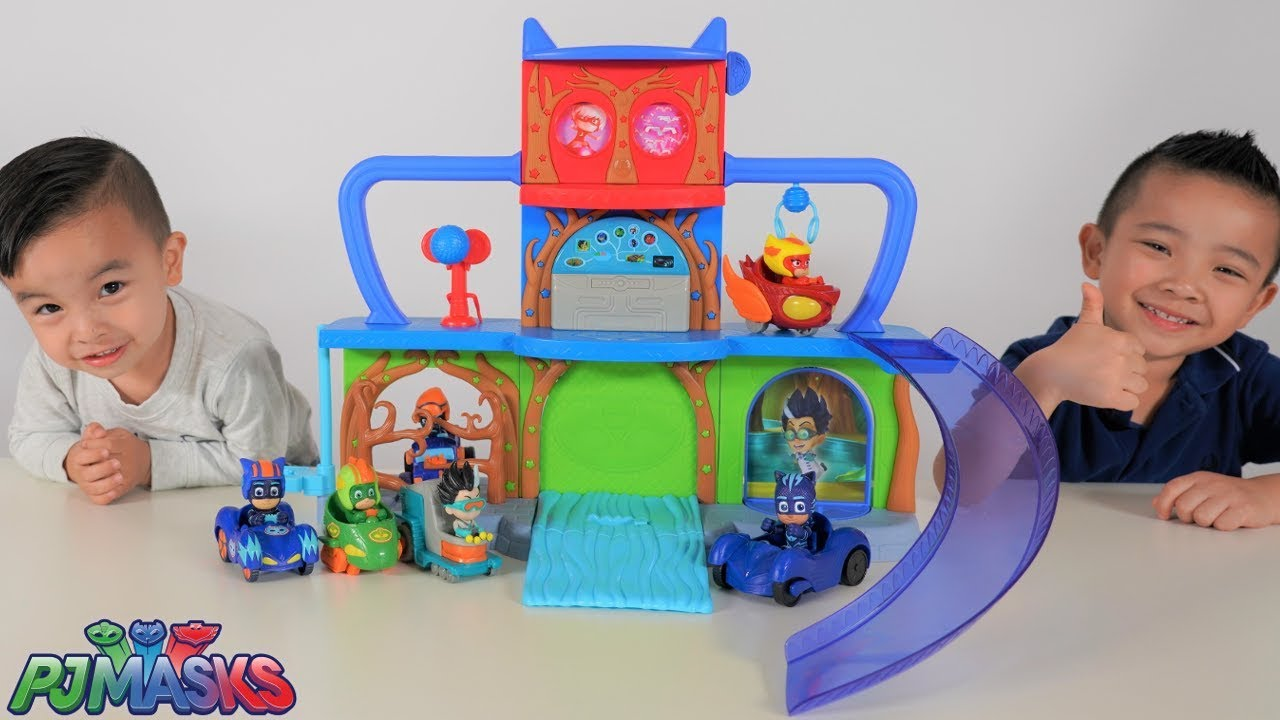 PJ MASKS New Headquarters Playset Unboxing Playtime With Ckn Toys - PJ MASKS New Headquarters Playset Unboxing Playtime With Ckn Toys