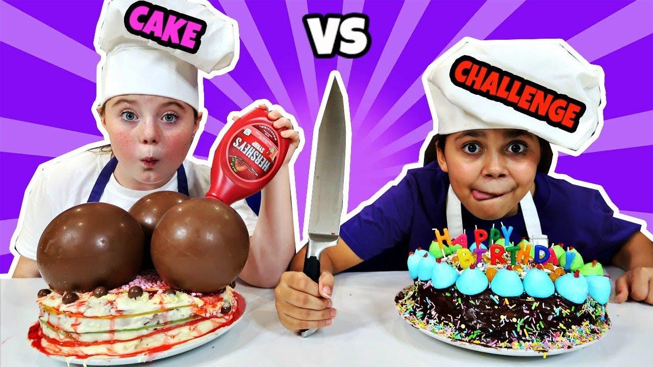 BIRTHDAY CAKE CHALLENGE - BIRTHDAY CAKE CHALLENGE!!