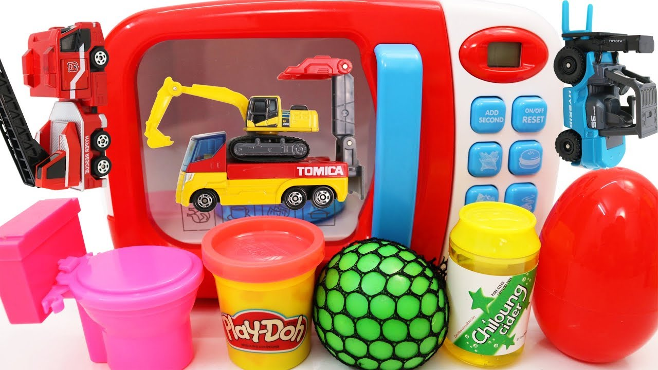 Learn Colors Learn Vehicles with Toy Microwave and Toy Cars Vehicles for Kids - Learn Colors Learn Vehicles with Toy Microwave and Toy Cars Vehicles for Kids