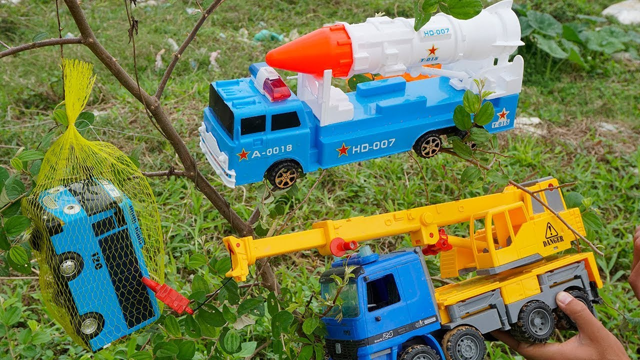 Crane Truck Troll Tayo Bus Rescued by Dump Truck Rocket Truck Construction Vehicles Toys For Kids - Crane Truck Troll Tayo Bus Rescued by Dump Truck Rocket Truck   Construction Vehicles Toys For Kids