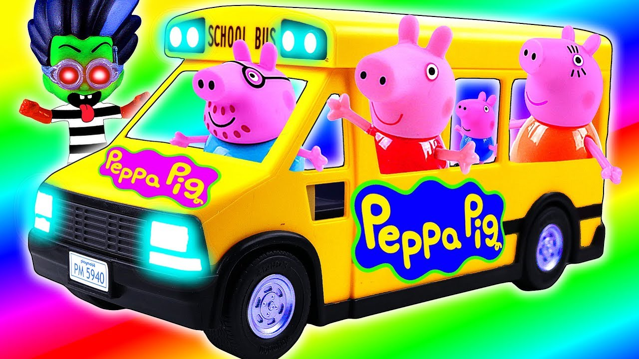 Learning Colors with Toy PEPPA PIG Toys Go To SCHOOL - Learning Colors with Toy PEPPA PIG Toys Go To SCHOOL
