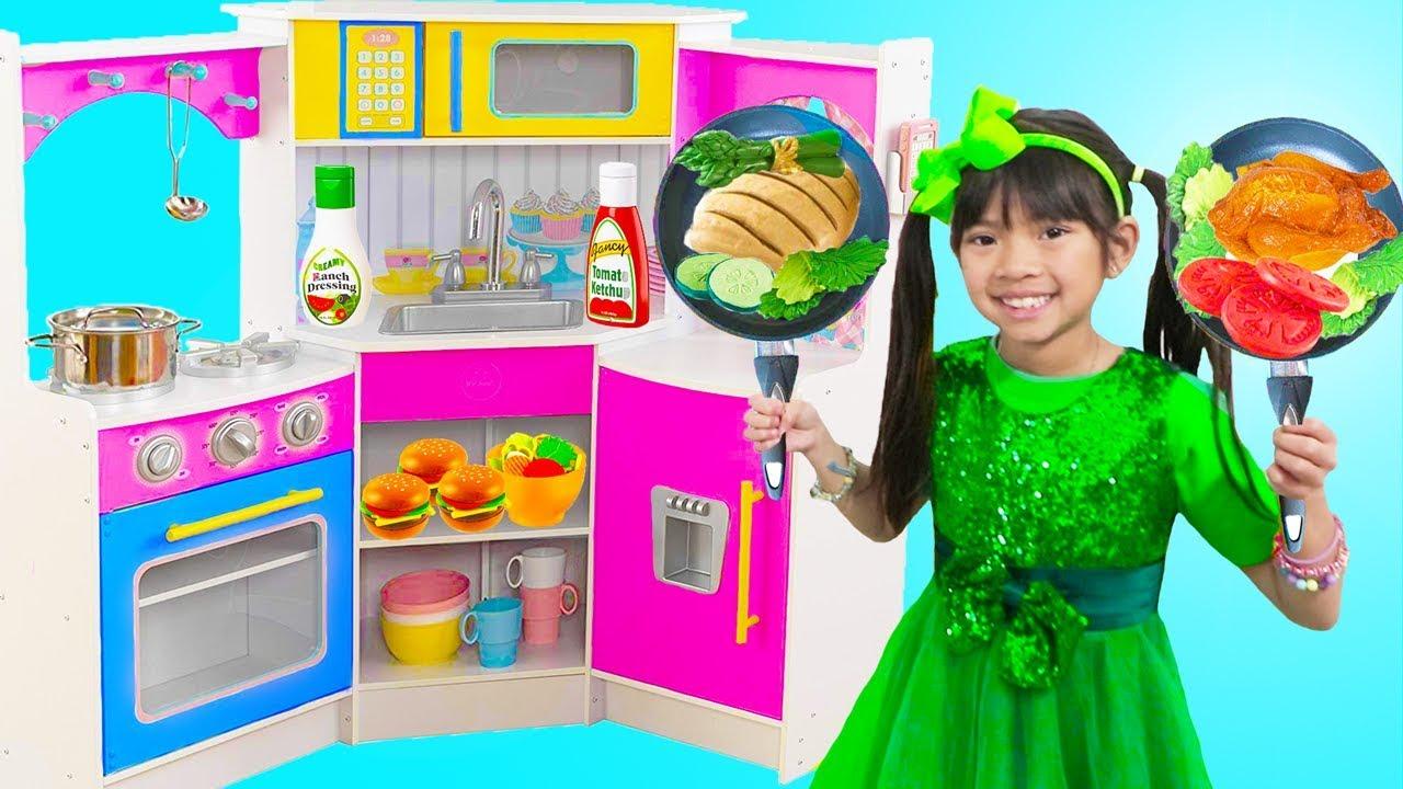 Emma Pretend Play w Restaurant Kitchen Buffet Dinner Party Kids Toys - Emma Pretend Play w/ Restaurant Kitchen Buffet Dinner Party Kids Toys