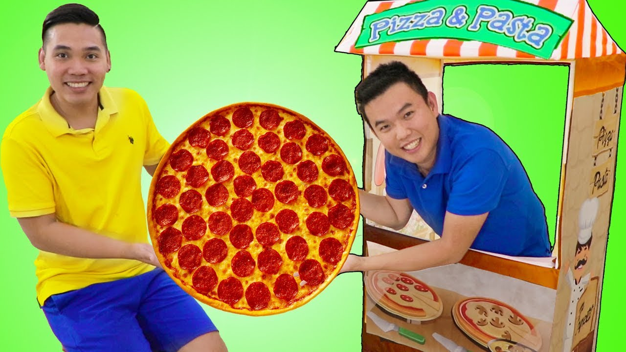 vbp 11807 Funny Uncle John Pretend Play w Pizza Food Kitchen Restaurant Cooking Kids Toys - Funny Uncle John Pretend Play w/ Pizza Food Kitchen Restaurant Cooking Kids Toys