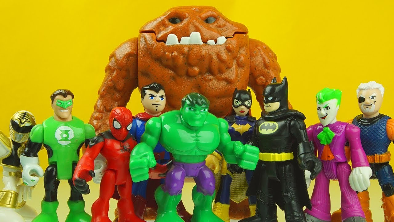 Learn Colors with HULK BATMAN imaginext superhero toys - Learn Colors with HULK & BATMAN imaginext superhero toys
