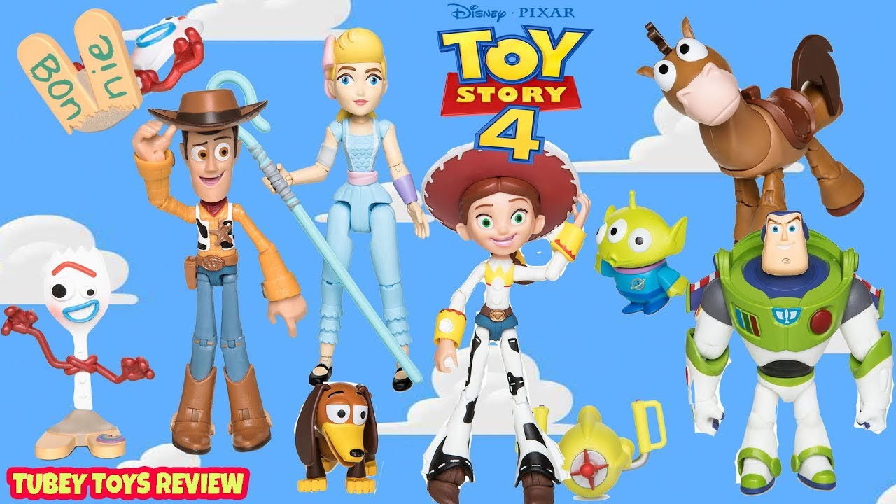 NEW Disney Pixar TOYBOX Toy Story 4 Poseable Action Figures Full Set Tubey Toys - NEW Disney Pixar TOYBOX Toy Story 4 Poseable Action Figures Full Set Tubey Toys