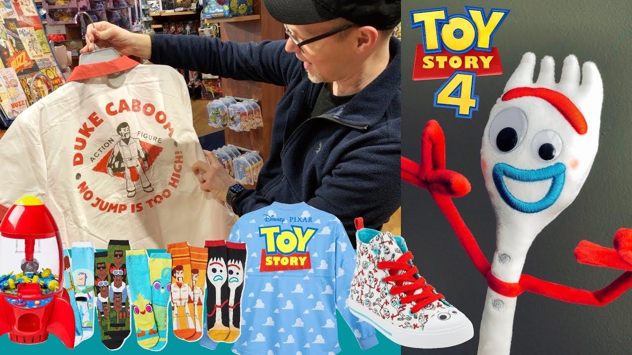 Toy Story 4 Toys Apparel Disney Store Walkthrough of Forky Bo Peep Plush Claw Machine More - Toy Story 4 Toys & Apparel - Disney Store Walkthrough of Forky / Bo Peep Plush, Claw Machine & More
