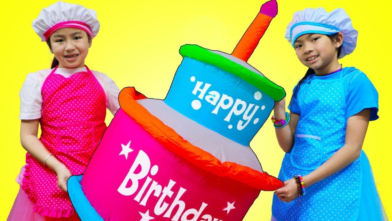 Jannie Emma Pretend Play Baking Super Giant Birthday Cake Food Toy - Jannie & Emma Pretend Play Baking Super Giant Birthday Cake Food Toy
