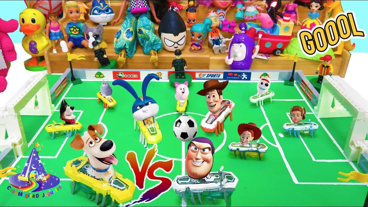 Partidazo Toy Story 4 VS La Vida Secreta de Tus Mascotas Juego de Futbol Hexbug Soccer Max vs Woody - Partidazo Toy Story 4 VS La Vida Secreta de Tus Mascotas Juego de Futbol Hexbug Soccer Max vs Woody
