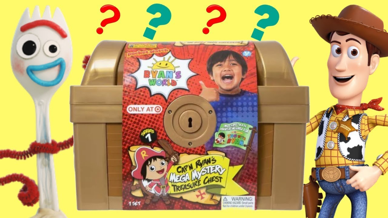 TOY STORY 4 Forky Woody Search Captain Ryans World Mega Mystery Treasure Chest - TOY STORY 4 Forky & Woody Search Captain Ryan's World Mega Mystery Treasure Chest