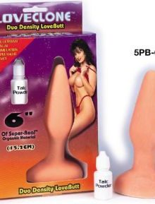 Medium butt plug with smooth synthetic feel