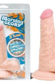 MORNING GLORY 5in BLACK DONG W/BALLS