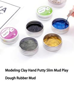 Hand Squeeze DIY Slime Toys Hand Modeling Clay Putty Magnetic Slime Modeling Clay Putty Magnetic Slime